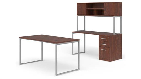 "Office Credenzas OFM 60"" Desk, Credenza and Hutch Set"