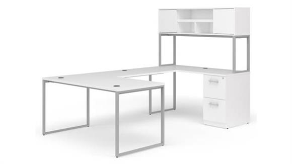 "U Shaped Desks OFM 60"" U-Desk with Hutch Set"