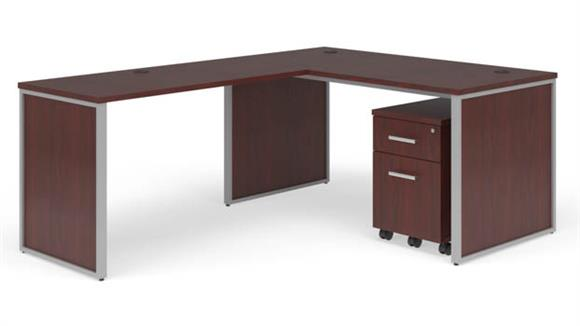 "L Shaped Desks OFM 72"" L-Desk Set"