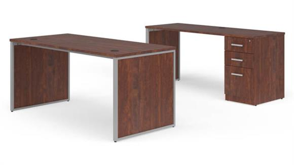 "Office Credenzas OFM 66"" Desk with Credenza Set"