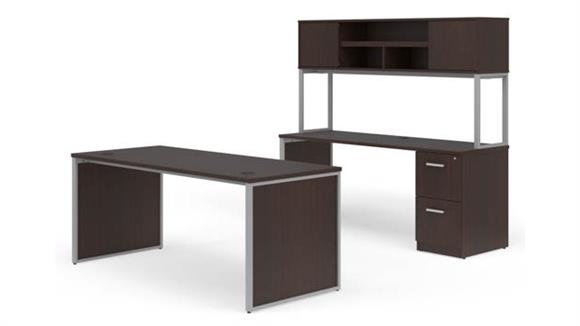 "Office Credenzas OFM 72"" Desk, Credenza with Hutch Set"