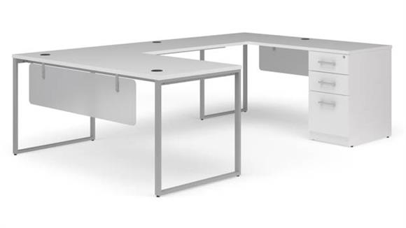 "U Shaped Desks OFM 66"" U-Shaped Desk Set"
