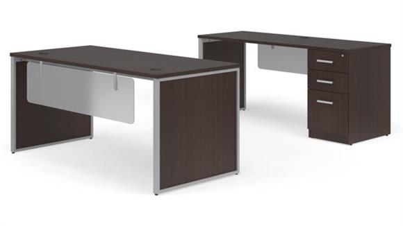 "Office Credenzas OFM 66"" Table Desk, 66"" Credenza Set"