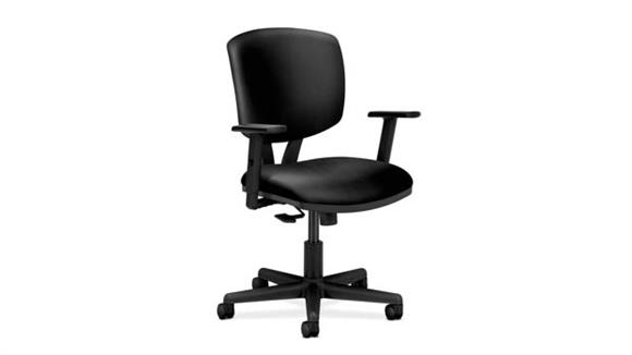 Office Chairs OFM Volt Leather Task Chair with Adjustable Arms