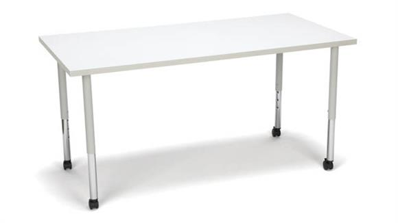 Activity Tables OFM Rectangle Large Leg Table with Casters