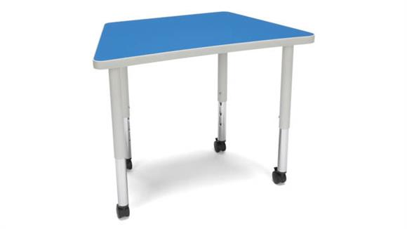 Activity Tables OFM Trapezoid Small Leg Table with Casters