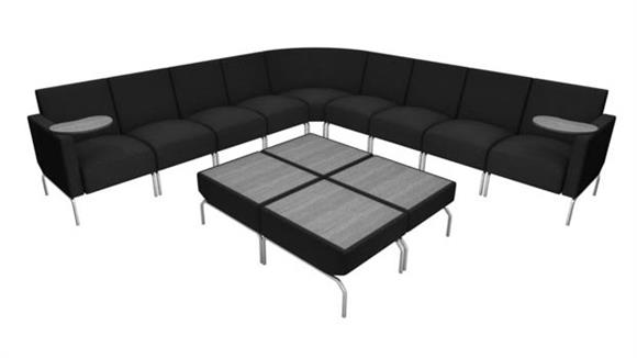 Side & Guest Chairs OFM L Shaped Modular Lounge Configuration