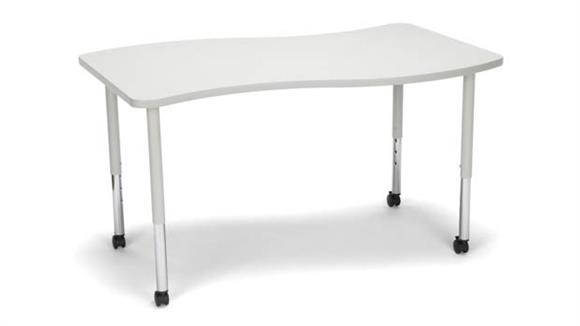 Activity Tables OFM Wave Small Top Large Leg Table with Casters