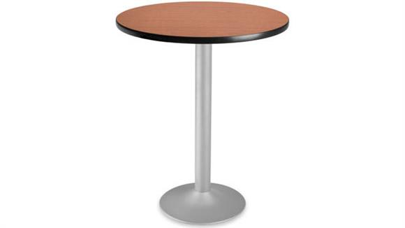 """Cafeteria Tables OFM 24"""" Round Cafe Height Flip Top Table"""