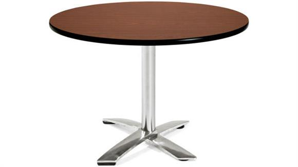 "Folding Tables OFM 42"" Round Flip Top Table"