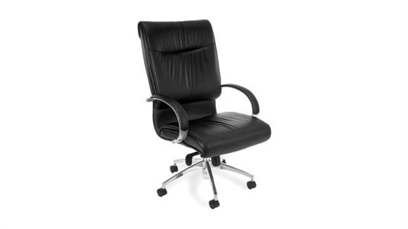 Office Chairs OFM Executive Leather High Back Chair