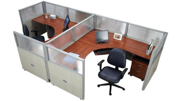Workstations & Cubicles OFM Set of 2 Workstations