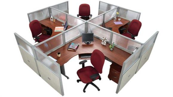 Workstations & Cubicles OFM Set of 4 Workstations