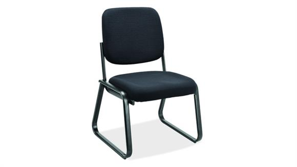 Side & Guest Chairs Office Source Armless Sled Base Guest Chair