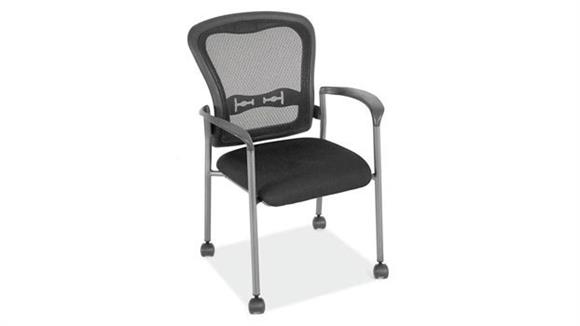 Side & Guest Chairs Office Source Mobile Mesh Back Guest Chair with Arms