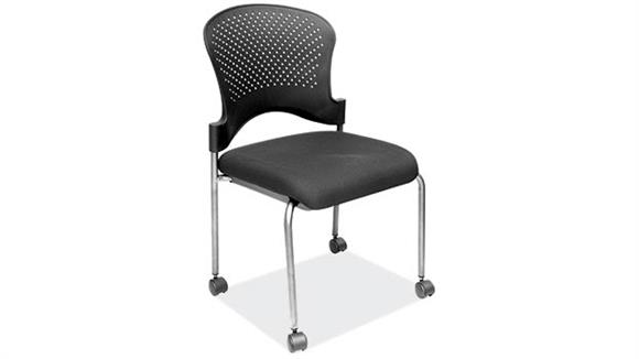 Side & Guest Chairs Office Source Armless Guest Chair with Casters