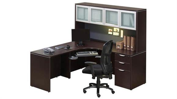 Corner Desk With Hutch By Office Source