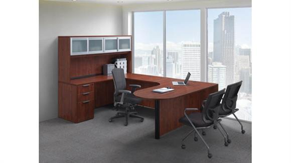sports shoes 13925 de13d U Shaped Desk with Hutch by Office Source
