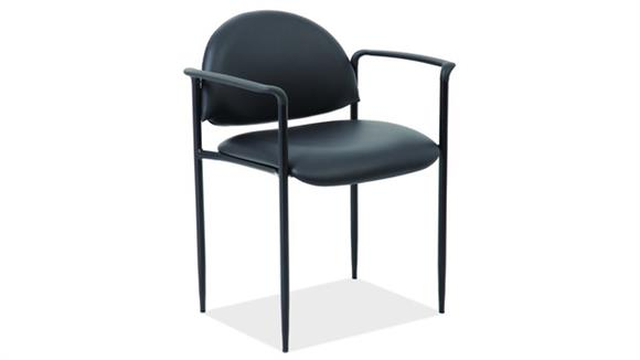 Stacking Chairs Office Source Stacking Side Chair with Arms & Black Frame