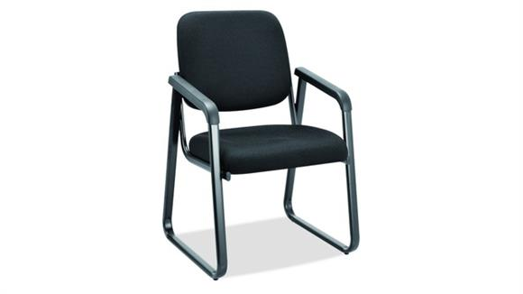 Side & Guest Chairs Office Source Sled Base Guest Chair with Arms