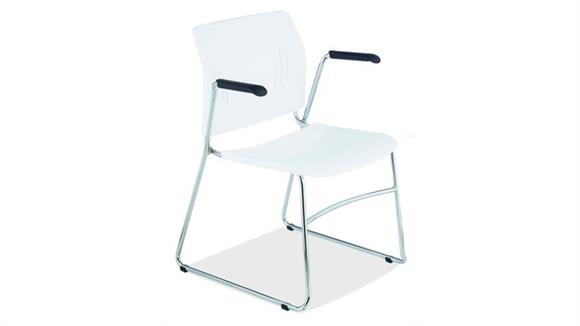 Stacking Chairs Office Source Stackable Side Chair with Arms