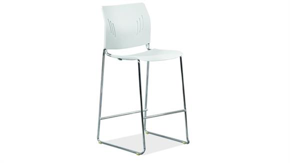 Counter Stools Office Source Polyurethane Stool with Footrest & Chrome Base