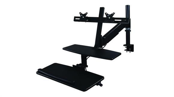 Monitor Stands / Arms Office Source Riser - Dual Monitor with Clamp & Grommet