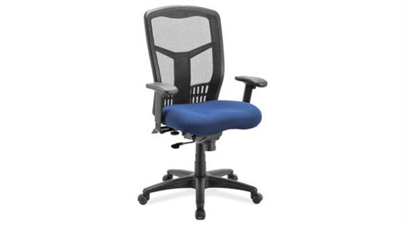 Office Chairs Office Source Cool Mesh Synchro High Back Chair with Seat Slider and Black Frame