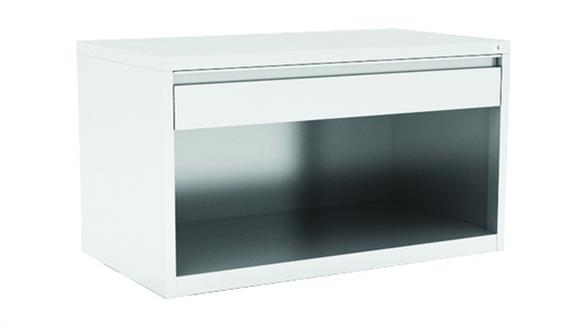 File Cabinets Lateral Office Source Top Drawer / Bottom Open Benching Cabinet