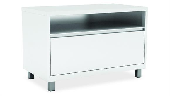 File Cabinets Lateral Office Source Top Open / Bottom Drawer Lateral File with Leg Base
