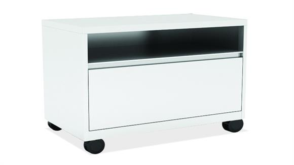 File Cabinets Lateral Office Source Top Open / Bottom Drawer Lateral File with Casters