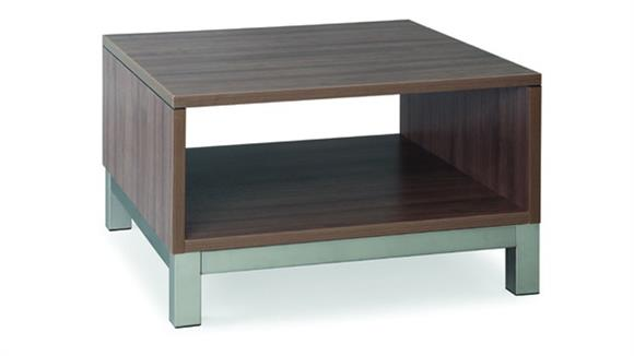 Accent Tables Office Source Pedestal Table with Metal Base