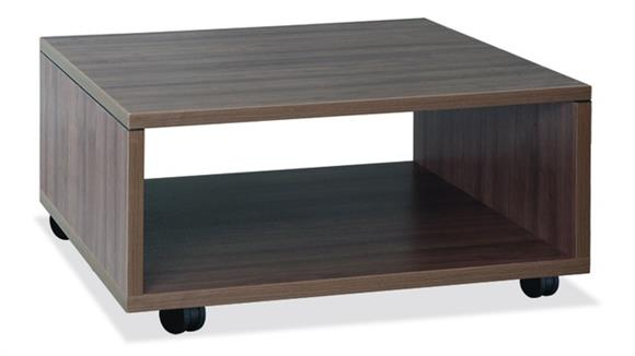 Accent Tables Office Source Pedestal Table with Casters