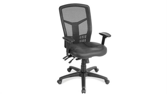 Office Chairs Office Source Cool Mesh High Back Chair with Leather Seat