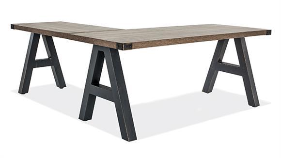 "L Shaped Desks Office Source 60"" x 66"" L Shaped Industrial Desk"