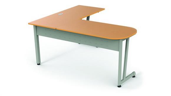 "Modular Desks Office Source 55"" L- Desk"