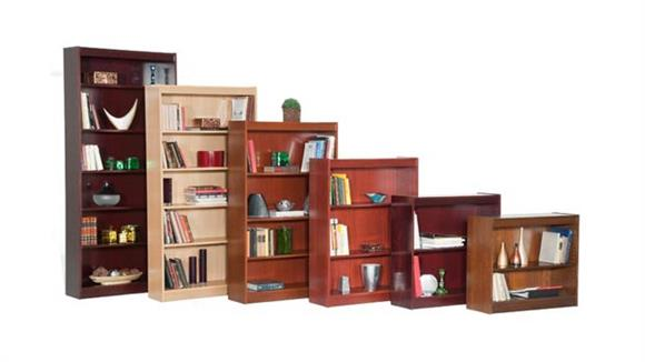 "Bookcases Office Source 84"" x 36"" Wood Veneer Contemporary Bookcase"