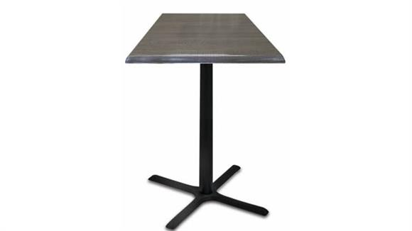 "Cafeteria Tables Office Source 30"" Height, 30"" x 30"" Square Indoor/Outdoor Table with X Base"