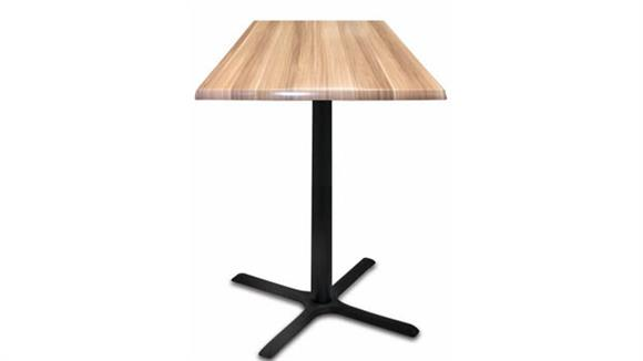 """Pub & Bistro Tables Office Source 42"""" Height, 30"""" x 30"""" Square Indoor/Outdoor Table with X Base"""