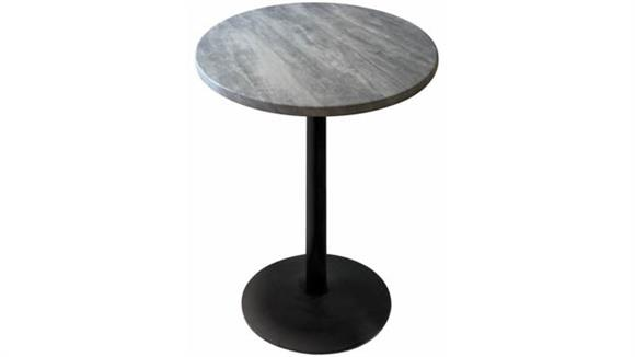 """Pub & Bistro Tables Office Source 42"""" Height, 36"""" Round Indoor/Outdoor Table with Round Base"""