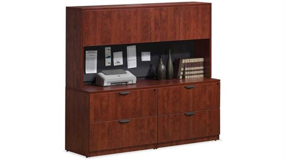 File Cabinets Lateral Office Source Double Lateral File Storage with Hutch
