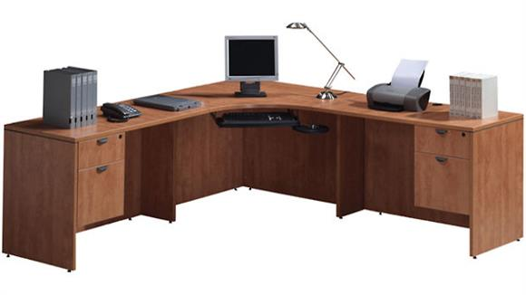"Corner Desks Office Source 90"" Corner Workstation"