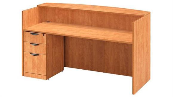 Reception Desks Office Source Single Pedestal Reception Desk