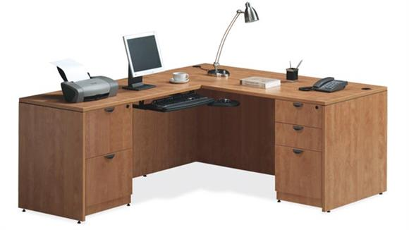 "L Shaped Desks Office Source 66"" x 66"" L Shaped Desk"