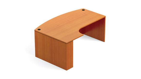 Executive Desks Office Source Bow Front Desk Shell with Left Extension