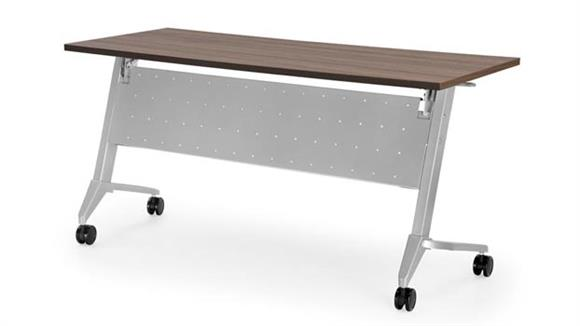 """Training Tables Office Source 72"""" x 24"""" Flip Top Training Table"""