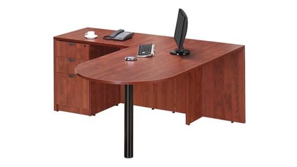 "L Shaped Desks Office Source 66"" x 60"" Bullet L Shaped Desk"