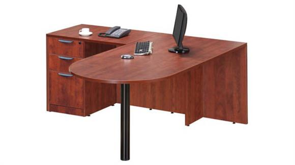 "L Shaped Desks Office Source 66"" x 54"" Bullet L Shaped Desk"