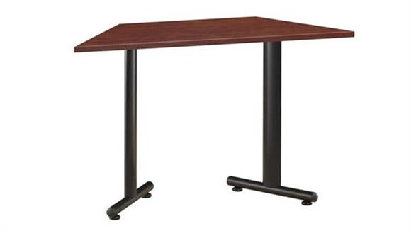 """Training Tables Office Source 48"""" x 24"""" Trapezoid Training Table with T Legs"""
