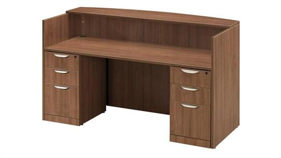 Reception Desks Office Source Double Pedestal Reception Desk